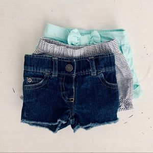 NWOT Bundle of NB and 0-3 Baby Shorts - Adorable!